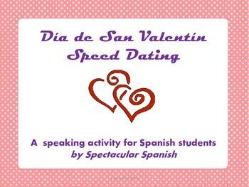 Valentine's Day Spanish Speed Dating Game