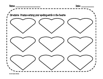 Valentine's Day Spelling Worksheet (Lower Elementary)
