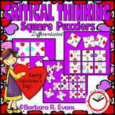 CRITICAL THINKING: Valentine's Day Square Puzzlers
