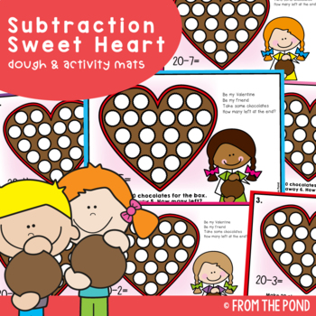 Valentine's Day Subtraction - Play Doh Mats