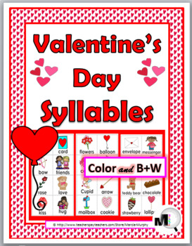 Syllables Sort - Valentine's Day Theme