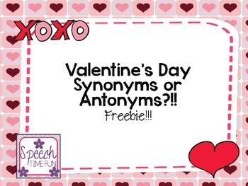 Valentine's Day Synonyms or Antonyms