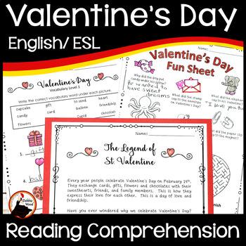 Valentine's Day: The Legend of St. Valentine Reading, Voca