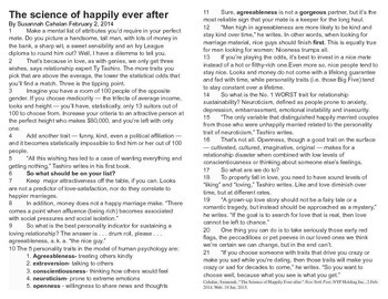 """Valentine's Day """"The Science of Happily Ever After"""" article"""