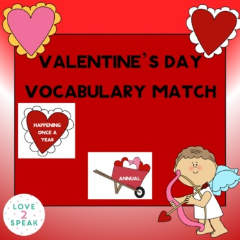 Valentine's Day Themed - Word Definitions - Match the Hear