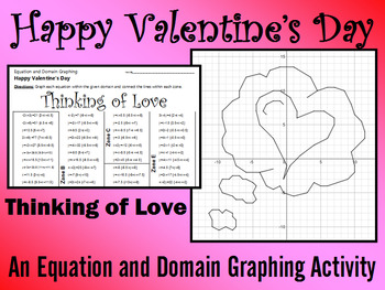 Valentine's Day - Thinking of Love - A Linear Equation Gra