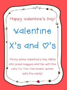 Printable: Valentine's Day Tic Tac Toe Treat