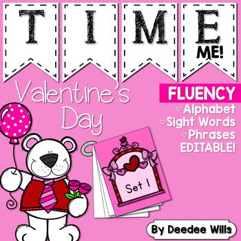 Dolch Word Fluency:  Time Me!  Valentine