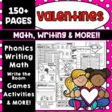 VALENTINE'S DAY MATH  VALENTINE'S DAY WRITING