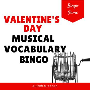 Valentine's Day Vocabulary Bingo Set
