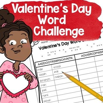 Valentine's Day Word Challenge