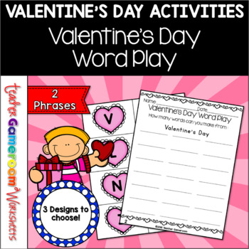 Valentine's Day Word Play Activity