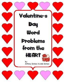 Valentine's Day Word Problems, Pre-Algebra, Standardized T