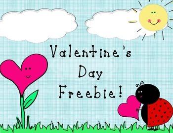Valentine's Day Worksheet Freebie!