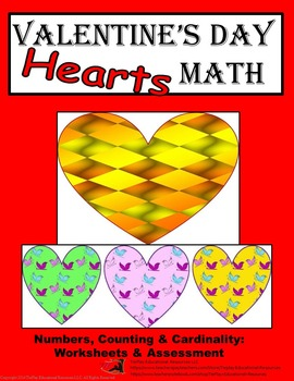 Valentine's Day Hearts Math Worksheets