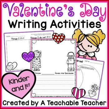 Valentine's Day Writing Activities {K-1}