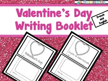 Valentine's Day Writing Booklet - French / English