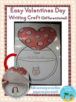 Valentine's Day Writing Craft {Easy and Differentiated}