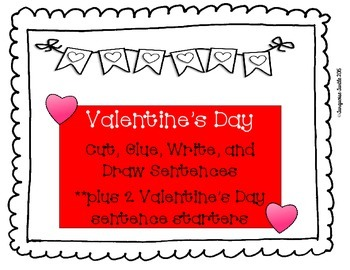 Valentine's Day Writing - Cut, Glue, Write and Draw