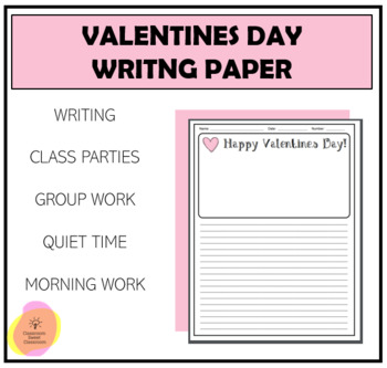 Valentines Day Writing Paper