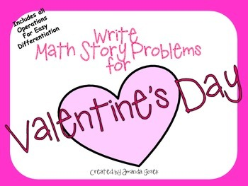 Valentine's Day Writing/Math Center