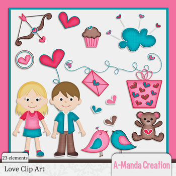 Valentine's Day and Love Themed Clip Art