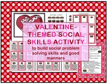 Valentine's Day-themed Social Skills, Pragmatics, Manners