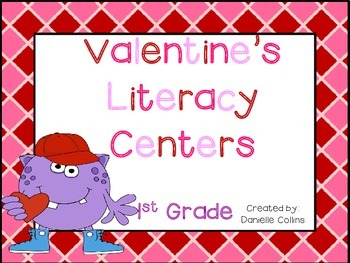 Valentine's Day1st Grade ELA Pack ( 7 CCSS Centers)