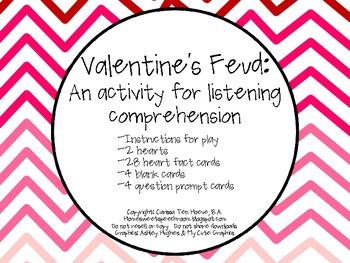 Valentine's Feud: A Listening Comprehension Activity