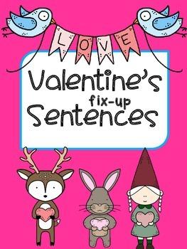 Valentine's Fix-up Sentences