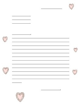 Valentine's Friendly Letter Template