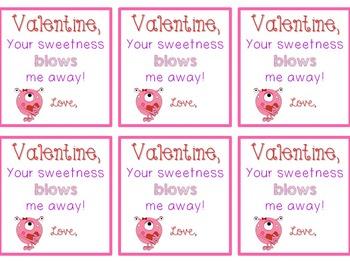 Valentine's Gift from Teacher {Blow Pop tag}