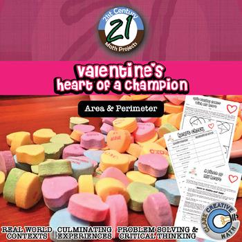 Valentine's Heart of a Champion -- Area, Perimeter, Volume