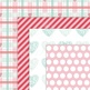 Valentine's Hearts Digital Paper Pack - Red, Pink, Teal/Mint