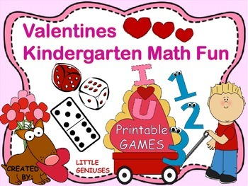 Valentine's Kindergarten Math Games