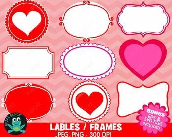 Valentines Labels Frames