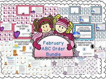 February ABC Order Centers Bundle