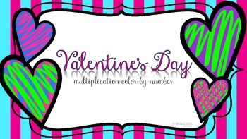 Valentine's Multiplication Color-by-Number