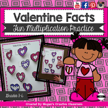 Valentines Multiplication Facts (cut and paste!)