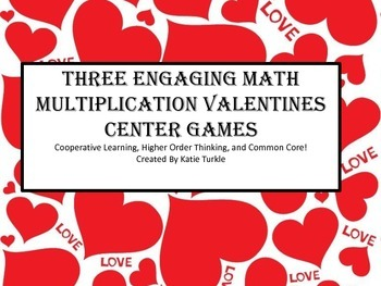 Valentine's Multiplication Games- Story problems, Basic Fa