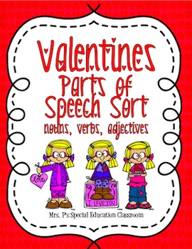 Valentine's Parts of Speech Sort