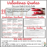 Valentines Quotes - No Prep Analysis and Activities