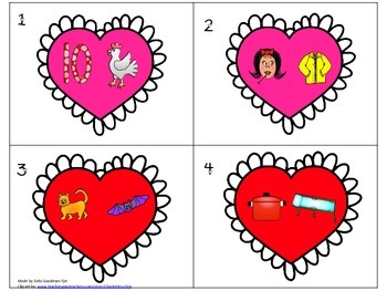 Valentines Read the Room--It Takes Two!  CVC word family pairs