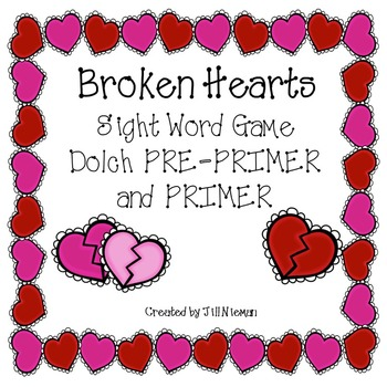 Valentine's Sight Word Games-Dolch Pre-Primer AND Primer Words