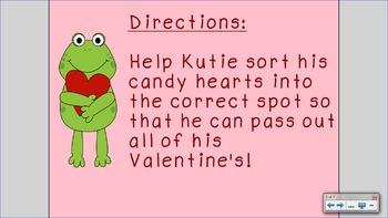 Valentines Smart Board Math
