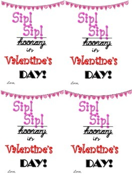 Valentine's Tags for use with curly straws