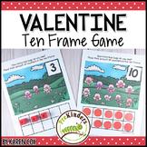 Valentines Ten Frame Game | Pre-K + K Math