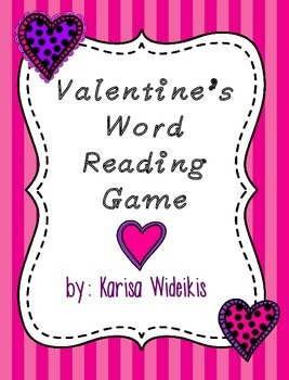 Valentine's Word Reading Game