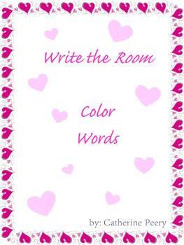 Valentine's Write the Room Colors