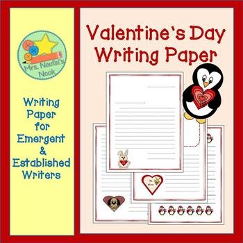 Valentine's Day Writing Paper for Emergent and Established